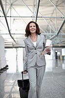 Businesswoman in airport terminal