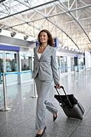 Businesswoman in airport terminal