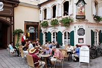 Austria, Salzburg, street cafe, people, leisure