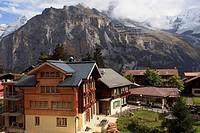 Switzerland, Alps, Bernese Oberland, Mürren, mountain village