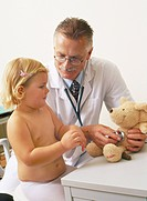 Little girl with doctor