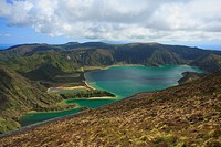 Fire Lake 'Lagoa do Fogo' in Portuguese  Sao Miguel island, Azores, Portugal