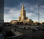 Cultural Palace, Palac Kultury, in the center of Warsaw, Poland, Europe