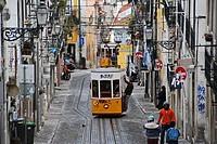 Elevador da Bica  Bairro Alto, Lisbon, Portugal