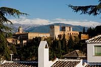 Alhambra skyline, Granada, Andalucia, Spain