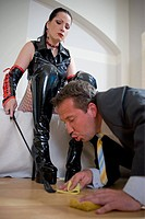 Fetish woman with man