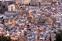 Jaen view from Saint Catalina´s Castle, Andalusia, Spain, Europe