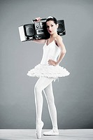 Ballerina with radio