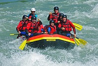 River Rafting Boat in Austria with eight persons