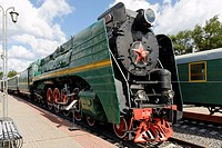 Soviet steam locomotive P36_0001, built in 1950