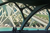 Principe Felipe Science Museum, City of Arts and Sciences by Santiago Calatrava, Comunidad Valenciana, Valencia, Spain, Europe