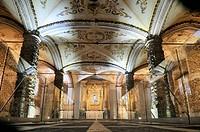 Charnel, bones chapel Capela dos Ossos in the Franciscan monastery, Evora, UNESCO World Heritage Site, Alentejo, Portugal, Europe