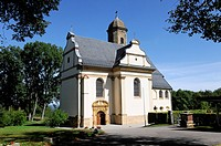 Hohenrechberg pilgrimage church, built in 1686, Rechberg, Schwaebisch Gmuend, Baden-Wuerttemberg, Germany, Europe
