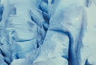 Aerial photograph of a glacier in Alaska
