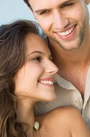 Close_up of a couple smiling