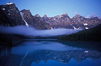 Moraine Lake in the Valley of the Ten Peaks Banff Natl Park This lake is one of Banffs most famous icons and attracts thousands of tourists to its sho...