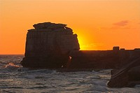 Pulpit Rock at Sunset Portland Bill nr Weymouth Dorset