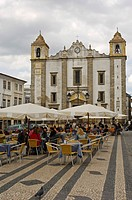 Praça do Giraldo, Évora, Alentejo, Portugal, Europe
