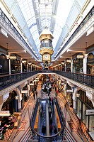 Royal Clock, arcades, boutiques, QVB, Queen Victoria Building, shopping centre, Sydney, New South Wales, Australia