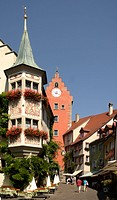 Obertor Gate, market square, Lake Constance, Meersburg, Baden-Wuerttemberg, Germany, Europe
