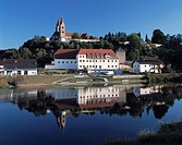 City of Reichenbach on river Regen, nature reserve Upper Bavarian Forest, Upper Palatinate, Bavaria, Germany, Europe