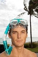Portrait of a man wearing a scuba mask