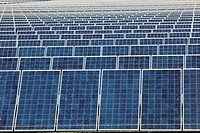 Alamosa, Colorado - Photovoltaic solar collectors at the largest photovoltaic power plant in the United States  The plant, in Colorado´s San Luis Vall...
