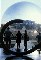 Photograph of the distort view from the window of the louvre museum