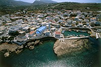 Aerial photograph of the Greek village of Fri on the island of Kasos