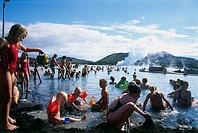 Photograph of the hot springs of Iceland