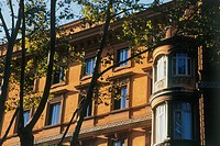 Photograph of a unique residential building in Rome
