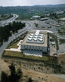 Aerial photograph of the Bible Lands Museum in Jerusalem