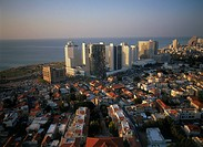 Arial photograph of the Suzanne Dellal Center in southern Tel Aviv
