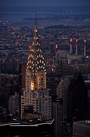 Night view of the Chrysler Building, New York, USA