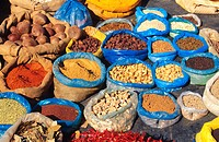 spices on the market, India, Uttar Pradesh