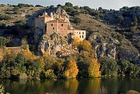 Chapel of San Saturio by river Duero, Soria, Castilla-Leon, Spain