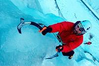 ice climbing, France, Savoie, Tignes.