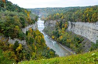 Letchworth State Park Inspiration Point Overlook Area Western New York