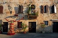 Old town of Svetvincenat in Central Istria, Croatia, Europe