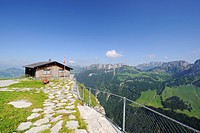 Alpine hut on Ebenalp Mountain, Canton of Appenzell Innerrhoden, Switzerland, Europe
