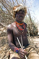 A member of the tribe Hazabe Group, Lake Eyasi, Tanzania, Africa