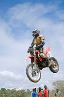 Rider in the 2nd Tanzanian Motocross Championship 2007 in Arusha, Tanzania, Africa