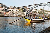 Typical ´rabelos´ boats on Douro river, Porto, Portugal