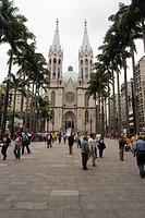 Sé Square, Sé Church, Center, São Paulo, Brazil