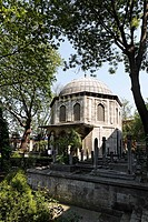 Tomb of the Sokollu Mehmed Pasa, mausoleum, Tuerbesi Muslim village Eyuep, Golden Horn, Istanbul, Turkey