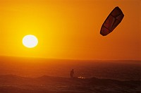 kite_surfer in sunset, South Africa, West Cape