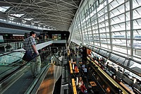 Departure hall of Zurich Airport, Switzerland, Europe