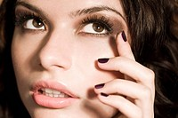 beauty woman with evening makeup