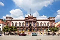 Main post office building in Weimar, Thuringia, Germany, Europe