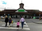 Asda Supermarket Entrance Surrey England